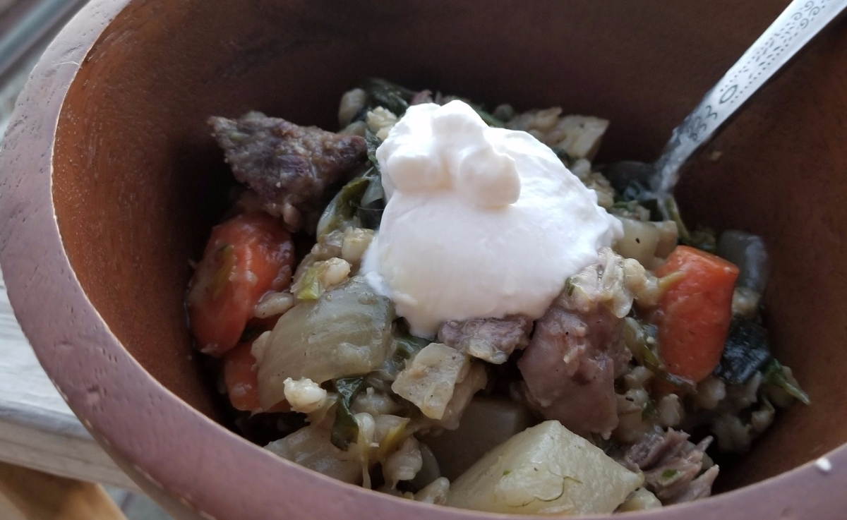 Simple Lamb and Barley Stew