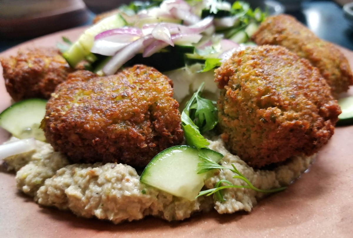 Falafel and Babaganoush