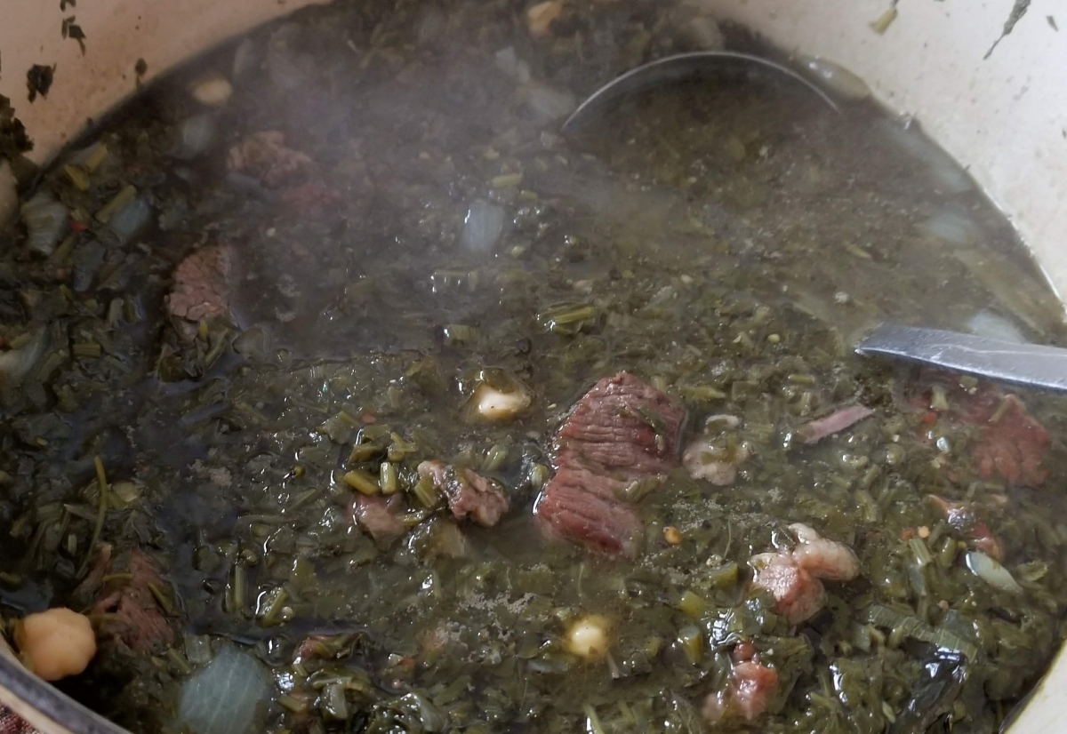 Ghormeh Sabzi (Herb and Meat Stew)